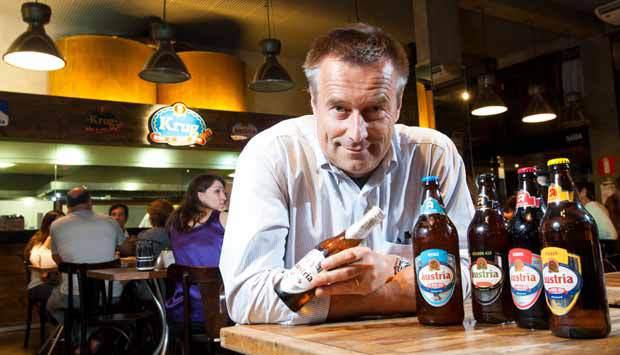 O austríaco Hervig Gangl, fundador da Krug Bier - Foto: VejaBH