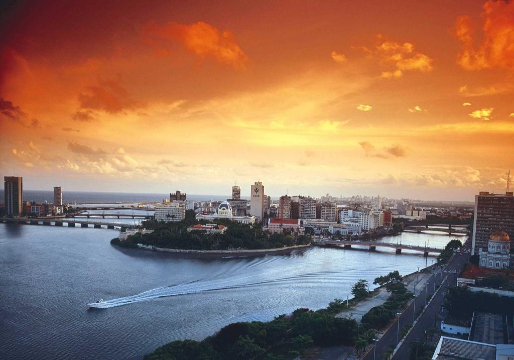 Por do sol em Recife