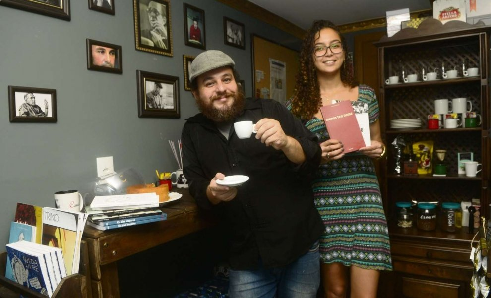 Saulo e Natielly na Editora Cousa - Foto: Gazeta Online