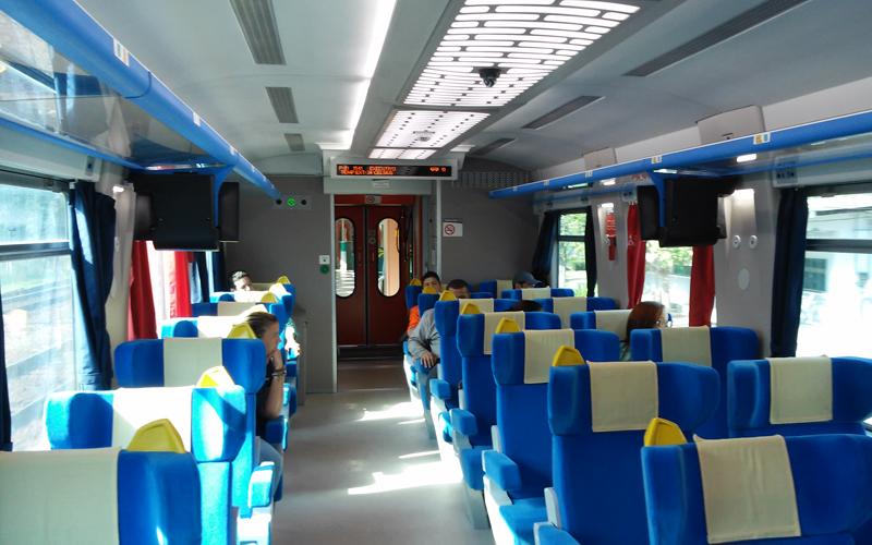 Interior do Trem de Passageiros