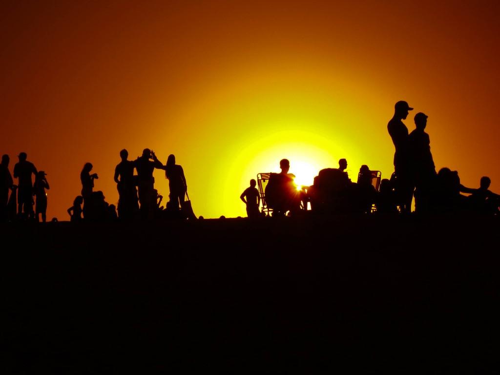 Por do sol nas dunas de Itaúnas