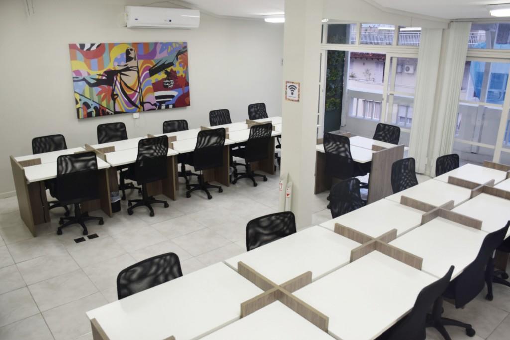 Tribo Coworking - Área interna para a realização de trabalhos
